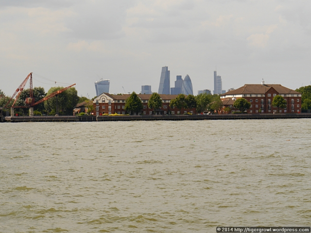 The City seen across the Thames