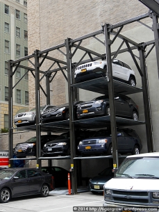 Stacking car park